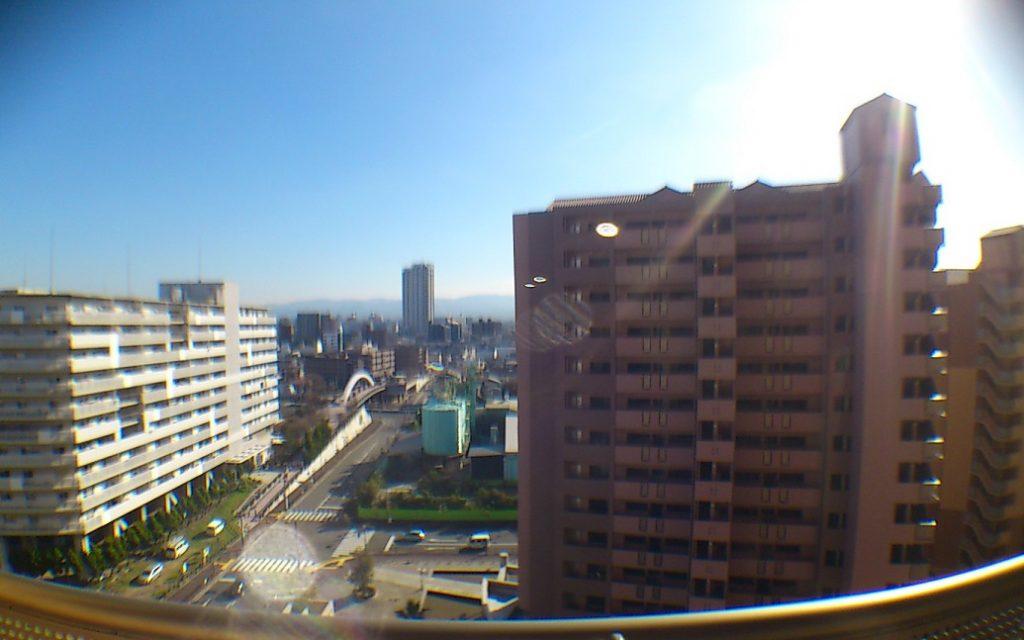 バルコニーからの眺望・日当たり